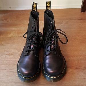Dr. Doc Martens Air Wair Purple Combat Boots - UK4